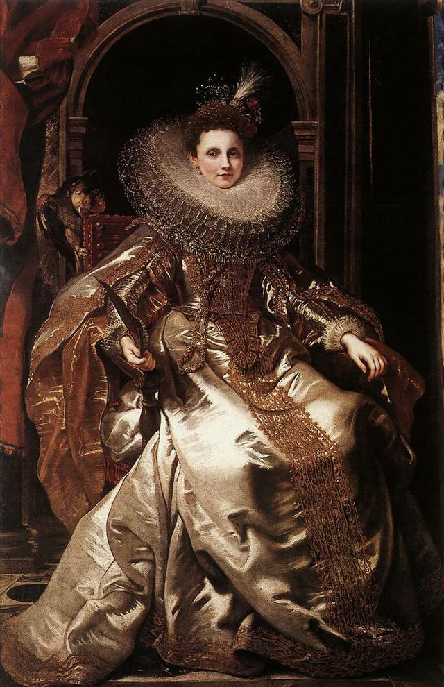 RUBENS, Pieter Pauwel (b. 1577, Siegen, d. 1640, Antwerpen) Portrait of Maria Serra Pallavicino 1606
